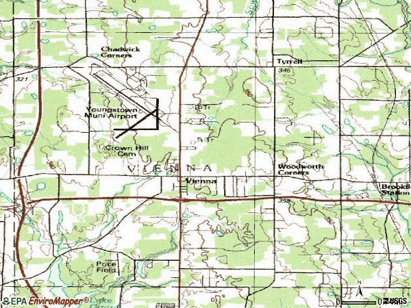 Zip code 44473 topographic map