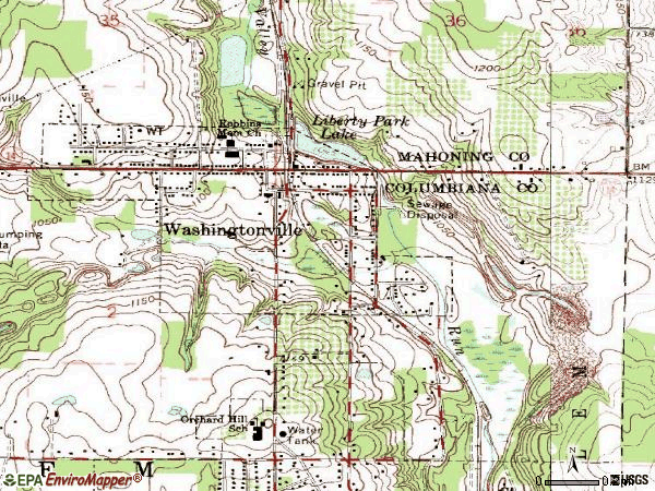 Zip code 44490 topographic map
