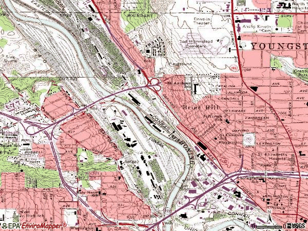 Zip code 44510 topographic map