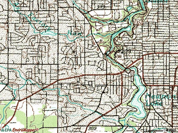 Zip code 44511 topographic map