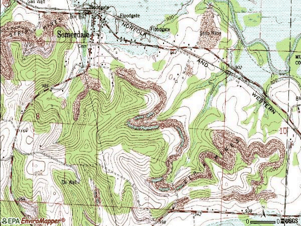 Zip code 44678 topographic map