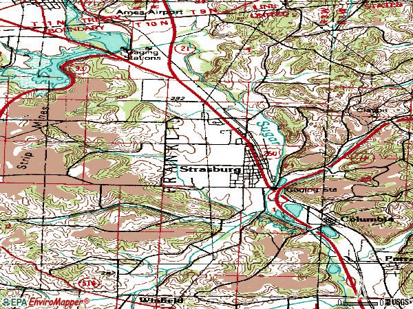 Zip code 44680 topographic map