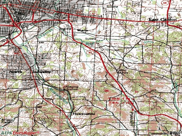 Zip code 44707 topographic map
