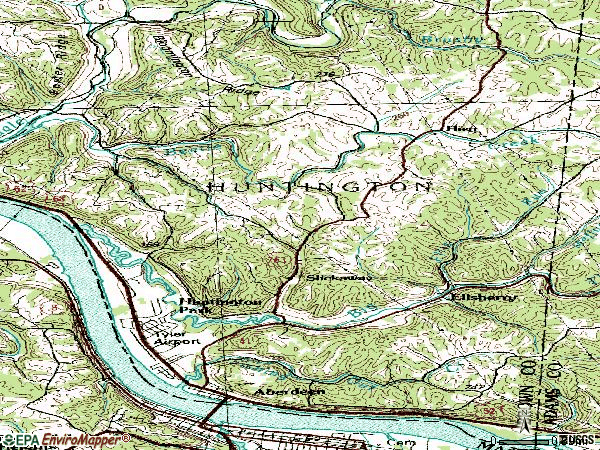 Zip code 45101 topographic map