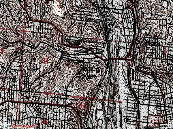 Zip code 45214 topographic map