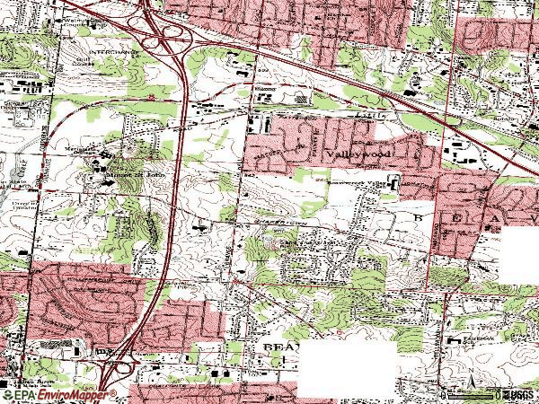 Zip code 45430 topographic map