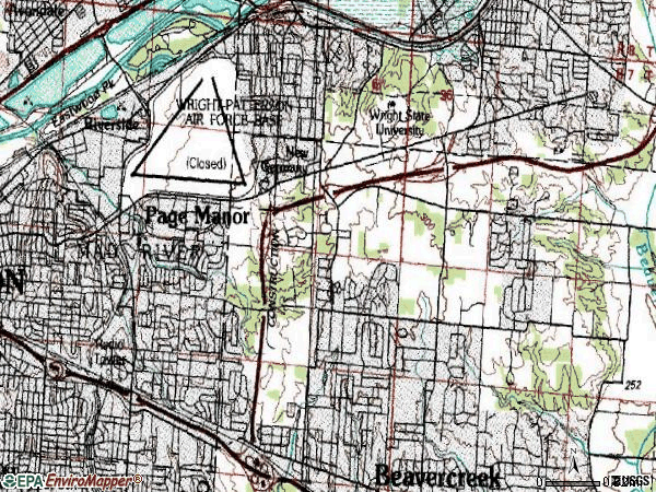 Zip code 45431 topographic map