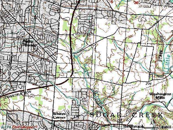 Zip code 45440 topographic map