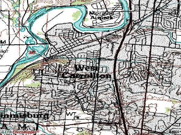Zip code 45449 topographic map