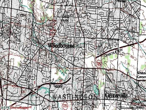 Zip code 45459 topographic map