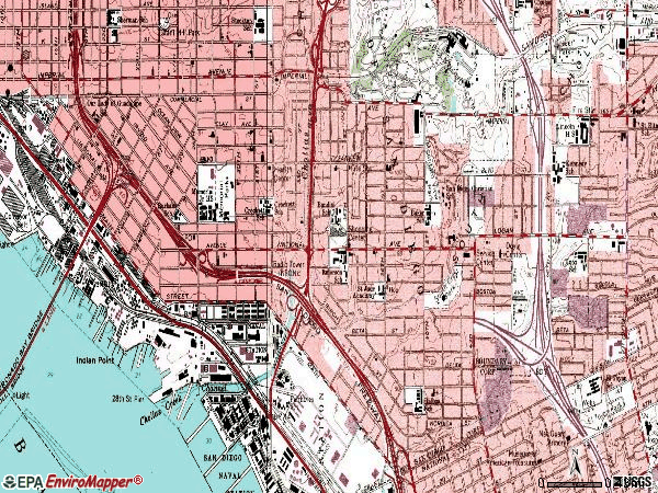 Zip code 92113 topographic map