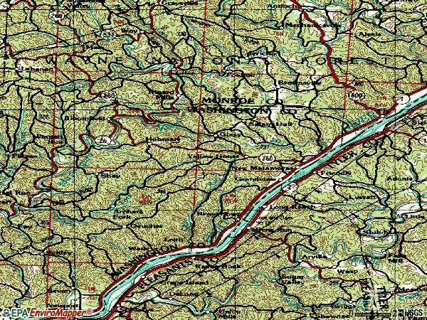Zip code 45767 topographic map