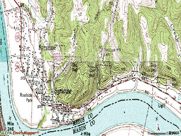 Zip code 45779 topographic map