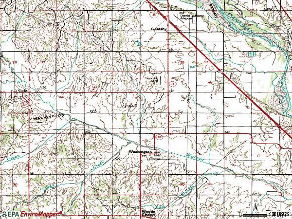 Zip code 73093 topographic map