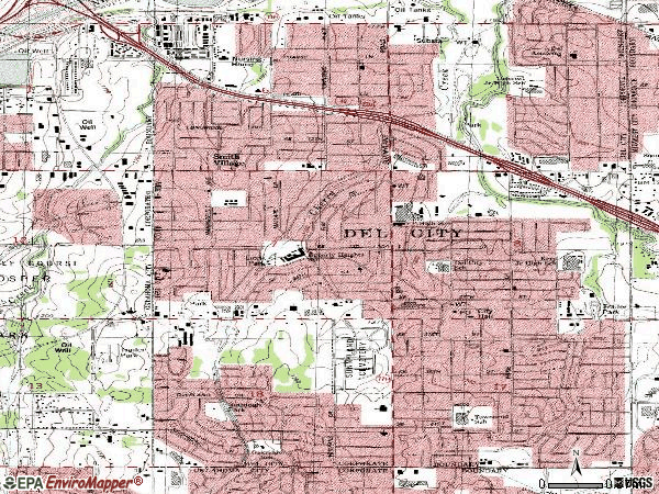 Zip code 73115 topographic map