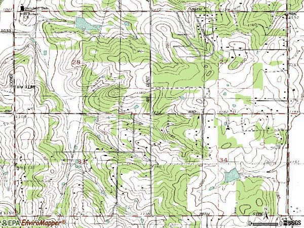 Zip code 73151 topographic map