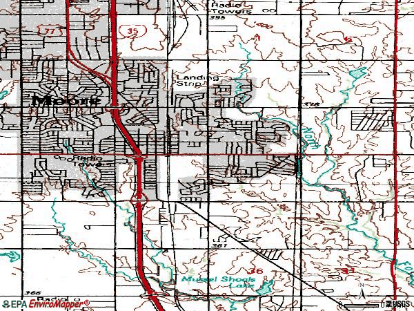 Zip code 73160 topographic map