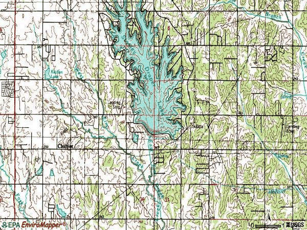 Zip code 73165 topographic map