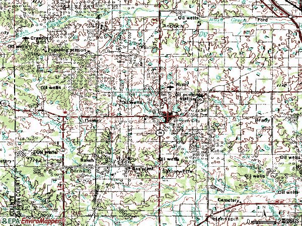 Zip code 73433 topographic map