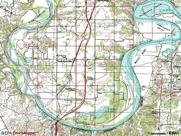 Zip code 73459 topographic map