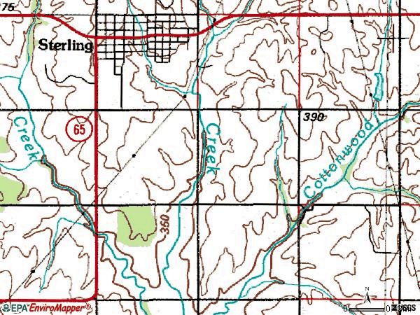 Zip code 73567 topographic map