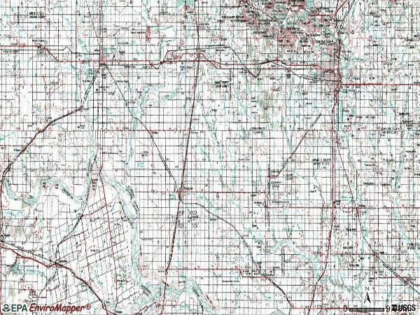 Zip code 00735 topographic map