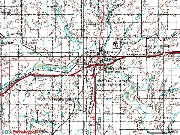 Zip code 73601 topographic map