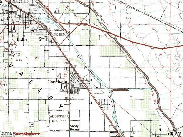 Zip code 92236 topographic map