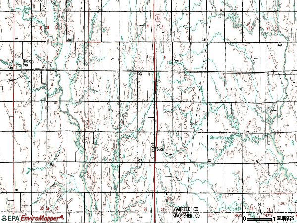 Zip code 73720 topographic map