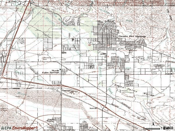 Zip code 92240 topographic map