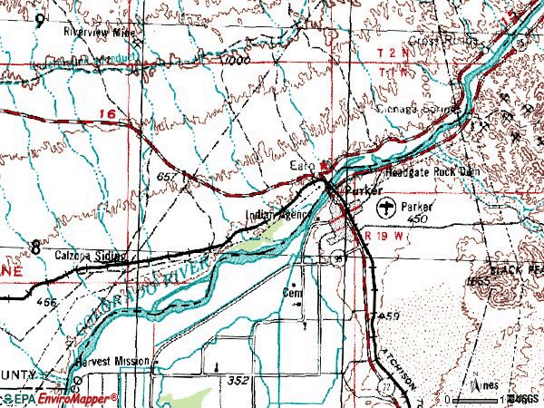 Zip code 92242 topographic map