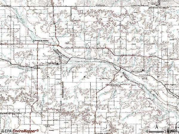 Zip code 73842 topographic map