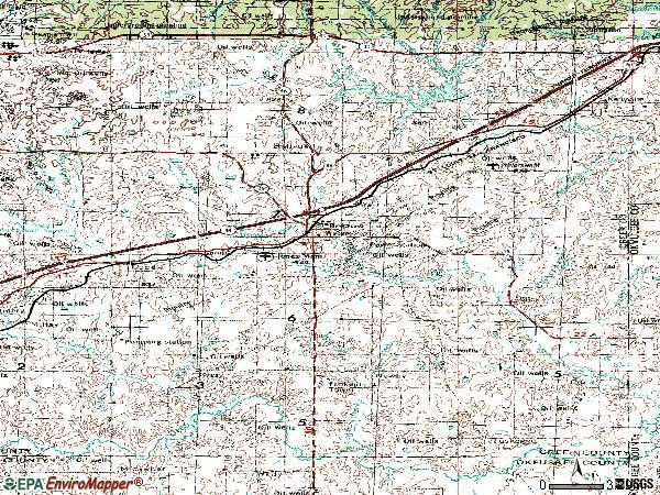 Zip code 74010 topographic map