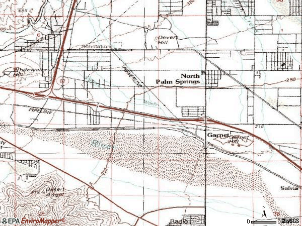 Zip code 92258 topographic map