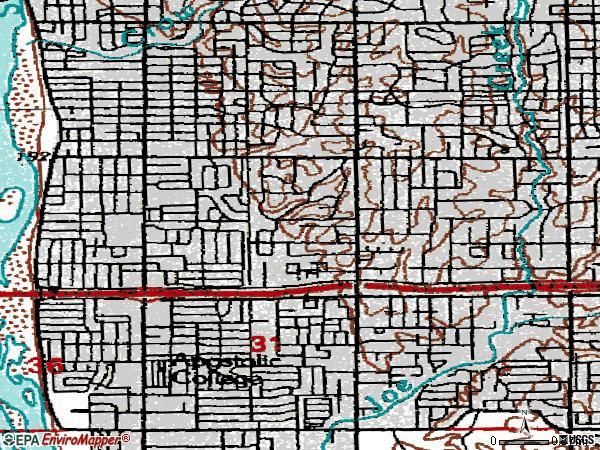 Zip code 74105 topographic map