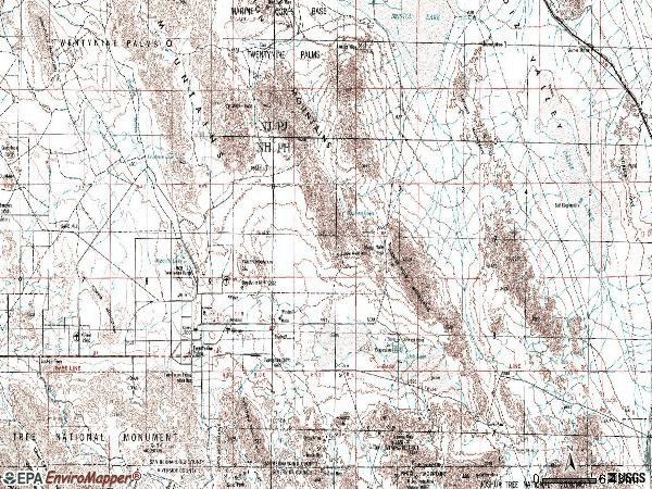 Zip code 92277 topographic map