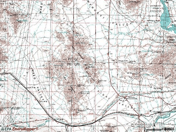 Zip code 92280 topographic map