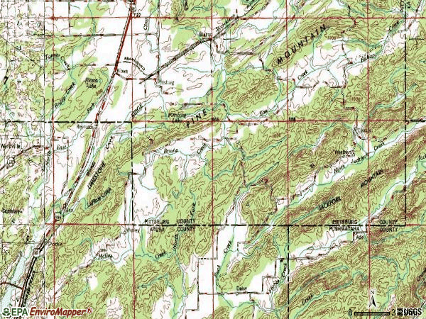 Zip code 74560 topographic map