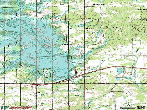 Zip code 74756 topographic map