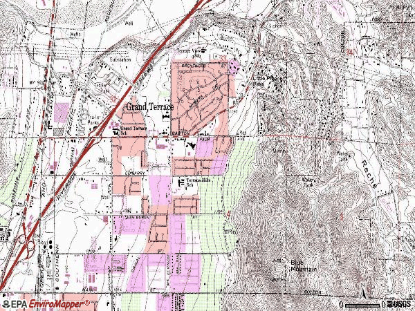 Zip code 92313 topographic map