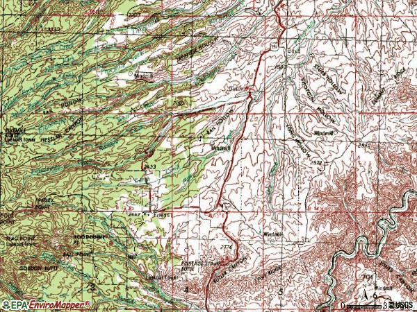 Zip code 97021 topographic map
