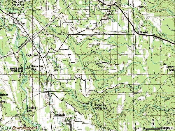 Zip code 97022 topographic map