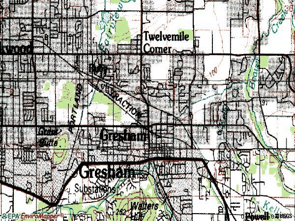 Zip code 97030 topographic map