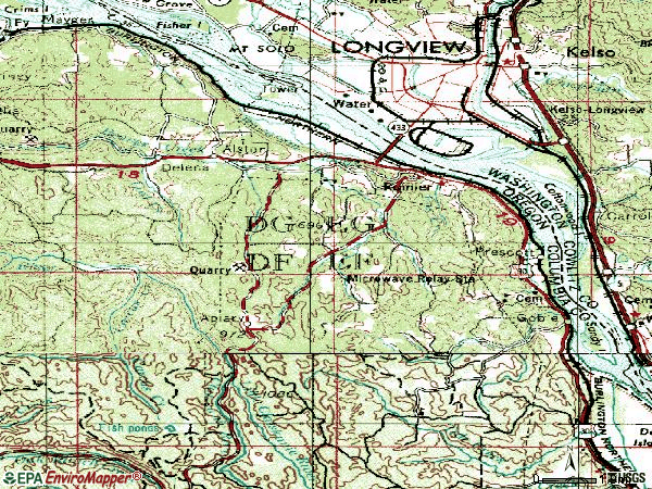 Zip code 97048 topographic map