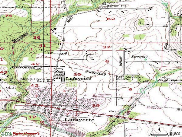 Zip code 97127 topographic map