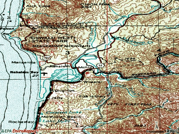 Zip code 97131 topographic map