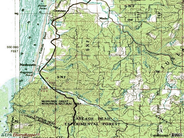 Zip code 97149 topographic map