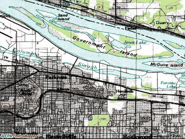 Zip code 97220 topographic map