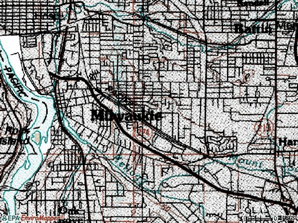 Zip code 97222 topographic map