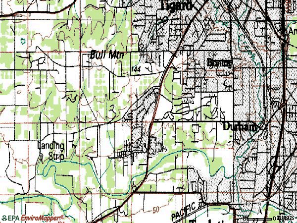 Zip code 97224 topographic map